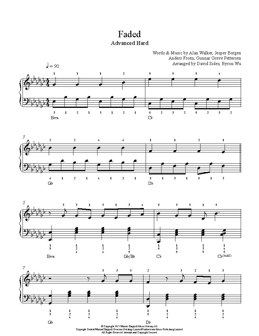 faded alan walker partitura piano pdf gratis