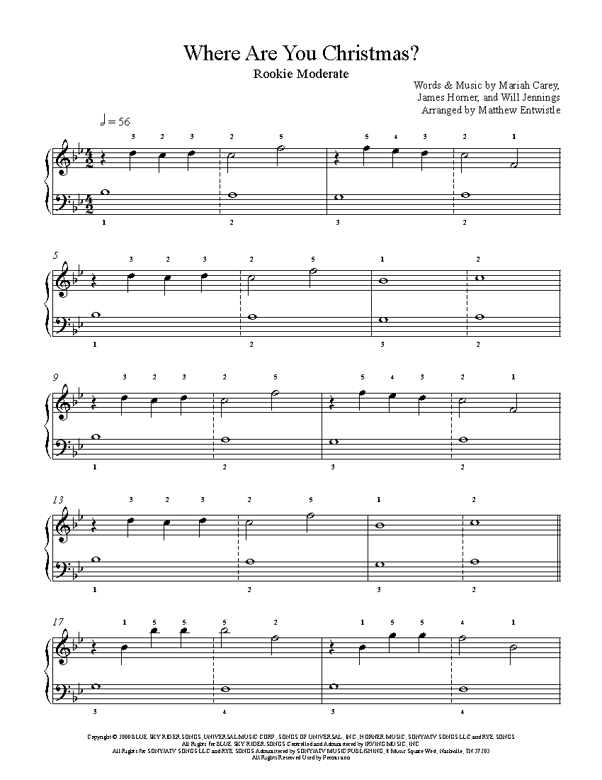 Where Are You Christmas.Where Are You Christmas By Faith Hill Piano Sheet Music