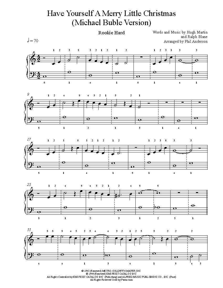 Have Yourself A Merry Little Christmas Piano Accompaniment.Have Yourself A Merry Little Christmas By Michael Buble