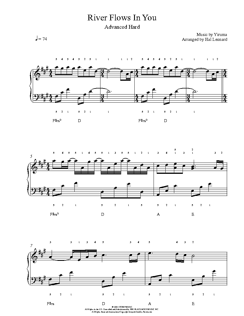 yiruma river flows in you sheet music free pdf
