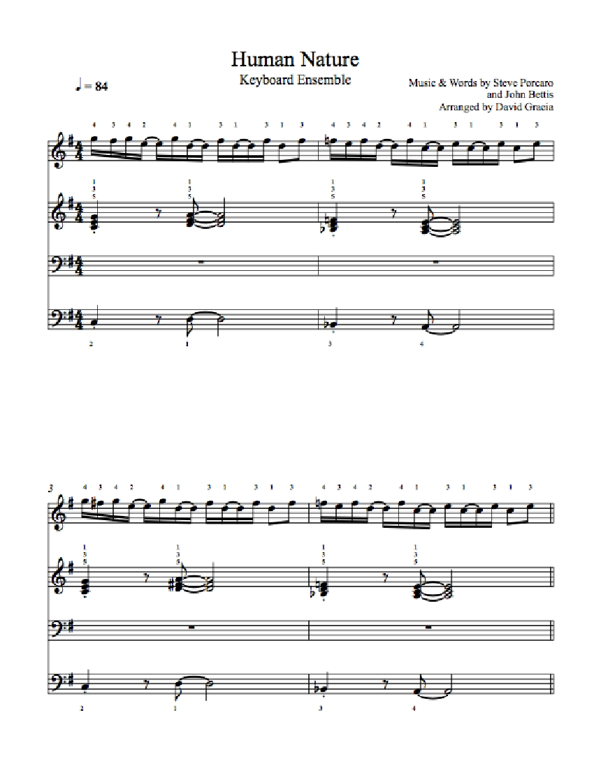 human nature piano sheet music pdf