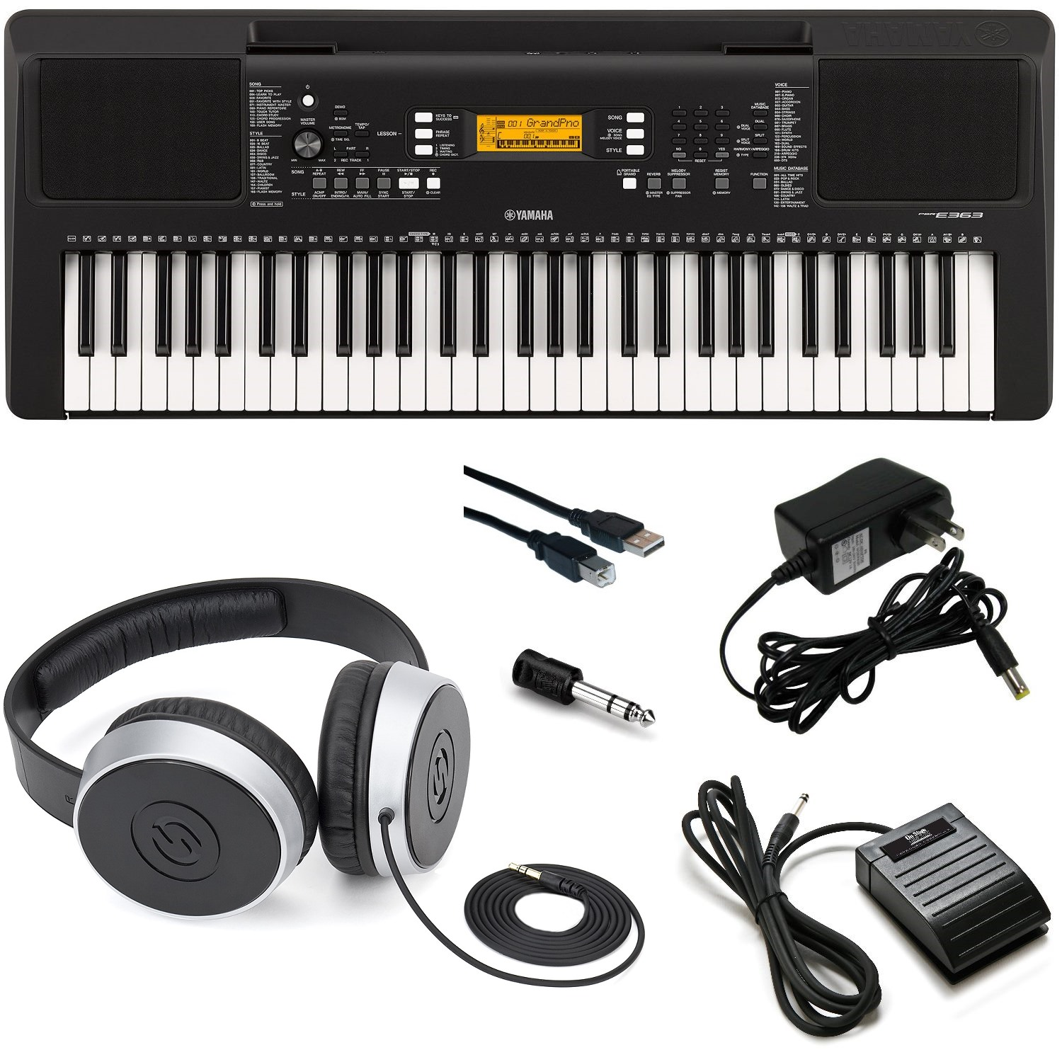 Yamaha Psr E363 Keyboard With Subscription Playground Sessions