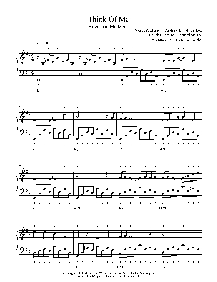 think of me by andrew lloyd webber piano sheet music advanced level. Black Bedroom Furniture Sets. Home Design Ideas