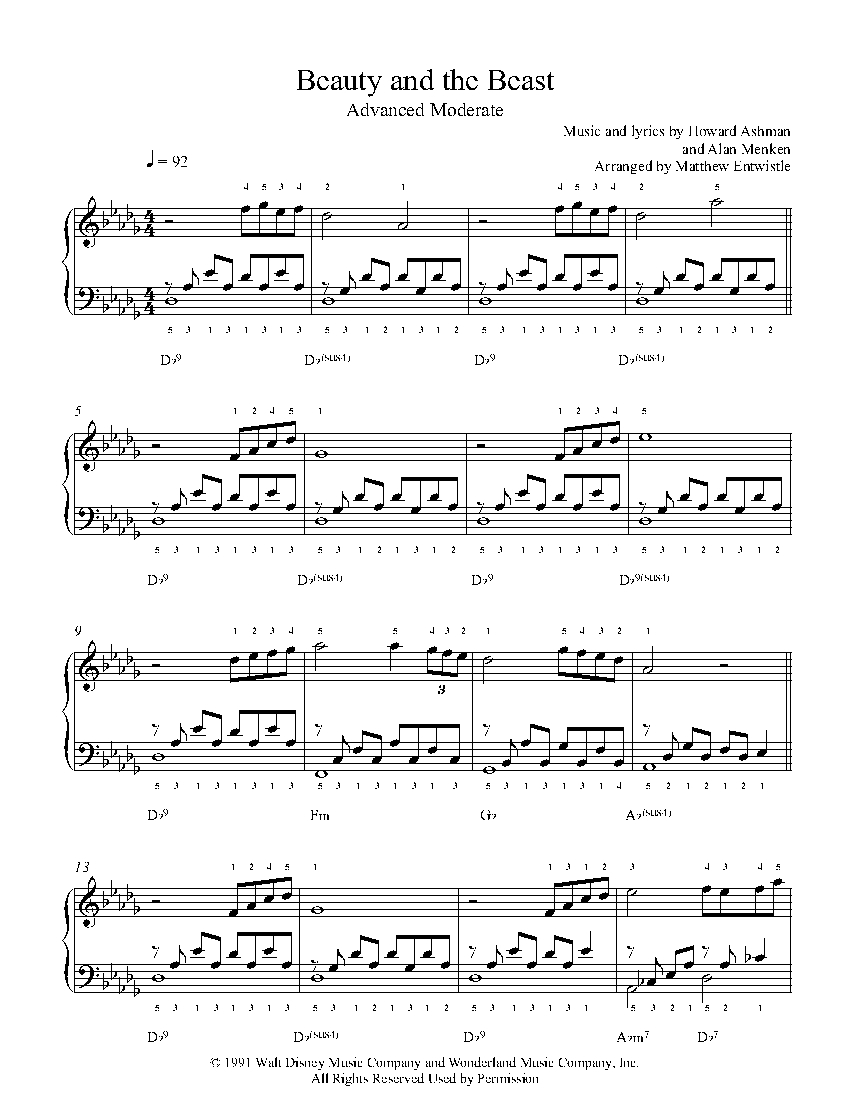 picture regarding Beauty and the Beast Piano Sheet Music Free Printable known as Splendor And The Beast by way of Howard Ashman Alan Menken Piano