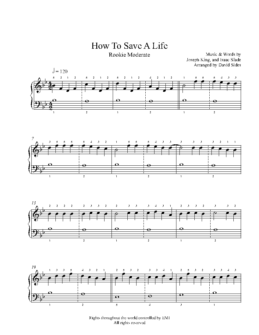 how to save a life midi