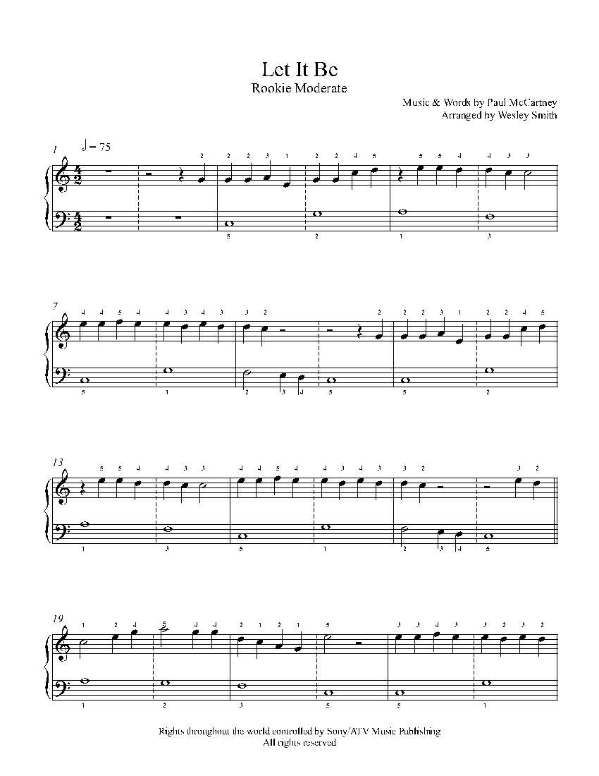 Beatles Let It Be Sheet Music