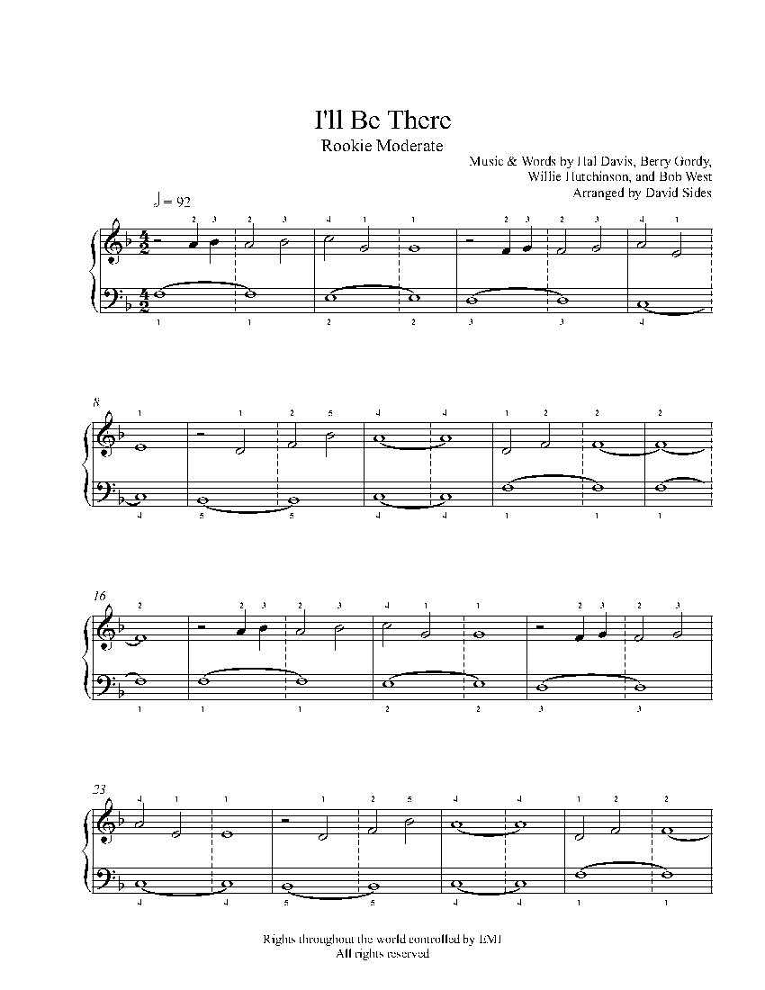 jackson 5 sheet music pdf