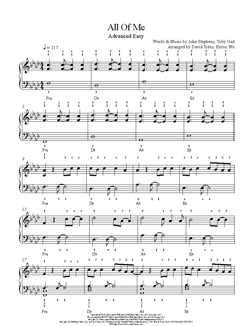 photograph about All of Me Easy Piano Sheet Music Free Printable named All Of Me through John Legend Piano Sheet New music Superior Stage