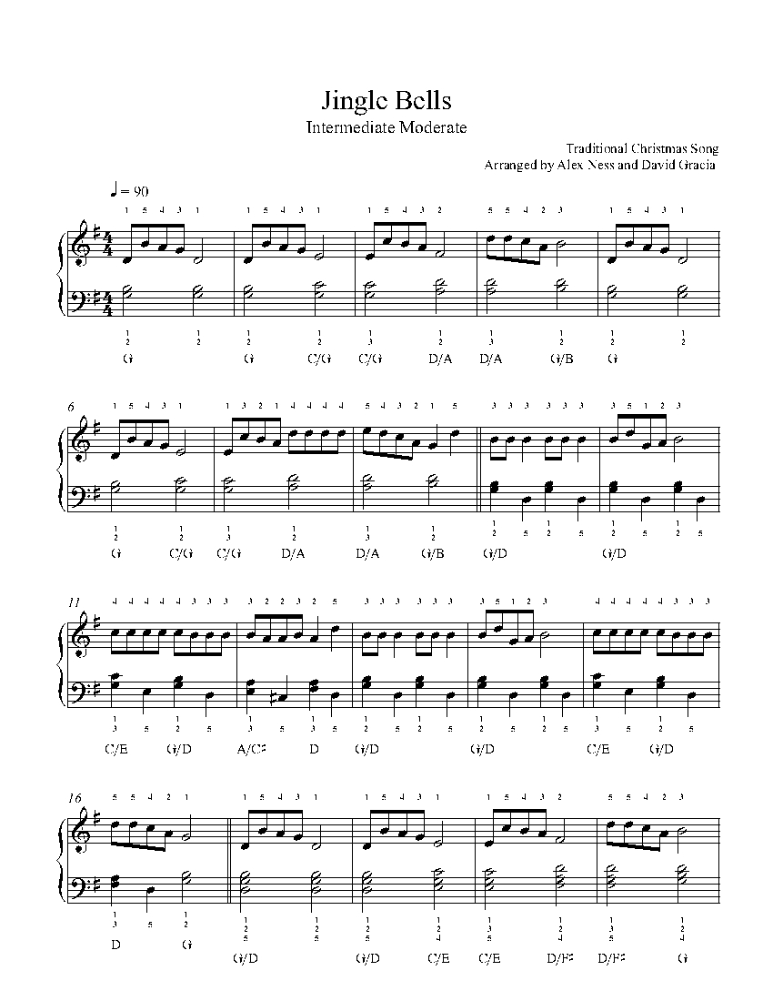 graphic regarding Jingle Bells Lyrics Printable titled Jingle Bells by means of Regular Piano Sheet New music Intermediate