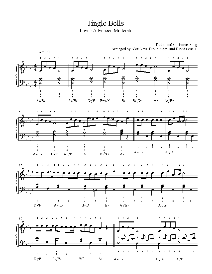 Jingle Bells by Traditional Piano Sheet Music | Advanced Level