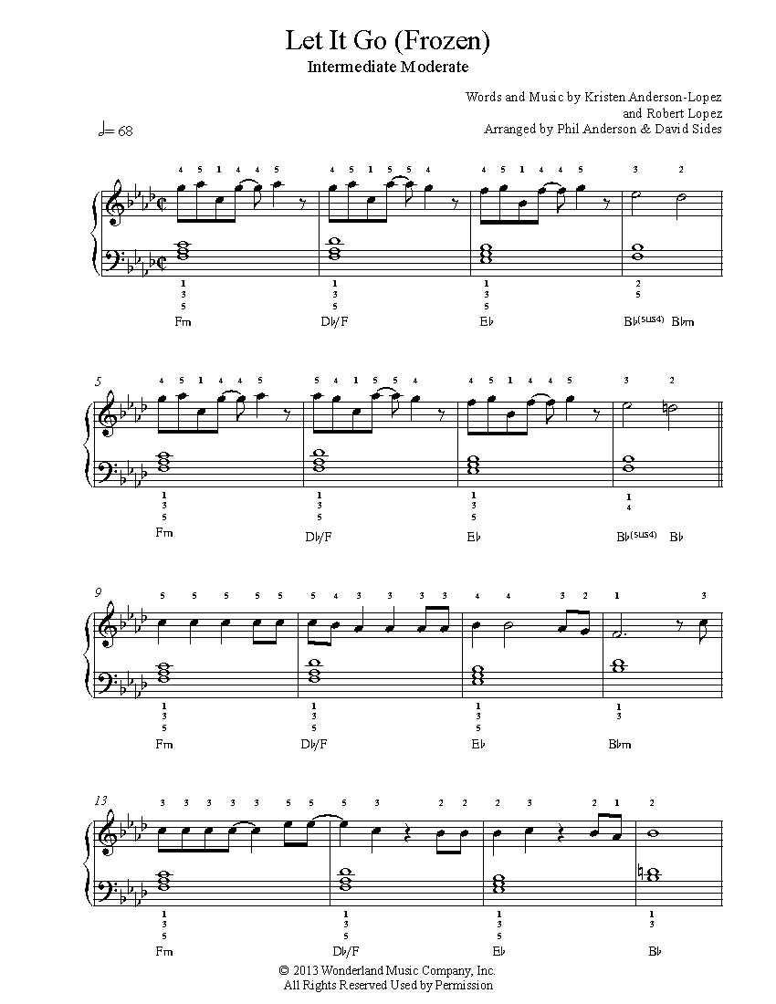 image regarding Let It Be Piano Sheet Music Free Printable called Make it possible for It Transfer by means of Frozen Piano Sheet Audio Intermediate Stage