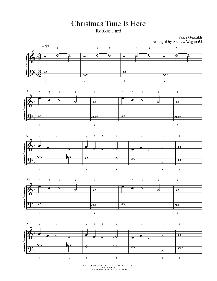 Christmas Time Is Here Piano.Christmas Time Is Here By Vince Guaraldi Piano Sheet Music