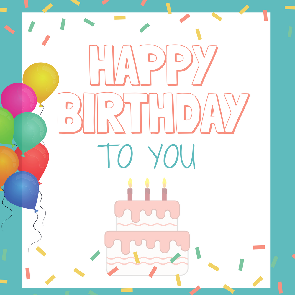 Happy Birthday To You By Mildred J. Hill Piano Sheet Music